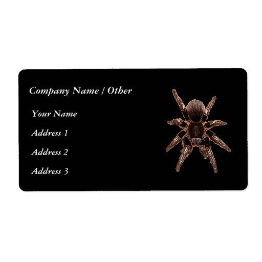 Tarantula Spider Custom Shipping Label
