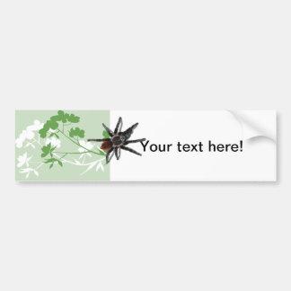 tarantula spider on dogwood blossom bumper sticker