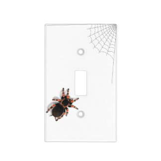 Tarantula Spider With Web Light Switch Cover