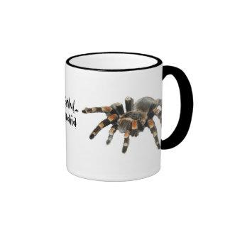 Tarantula, tarantul-manía, araña grande taza de dos colores