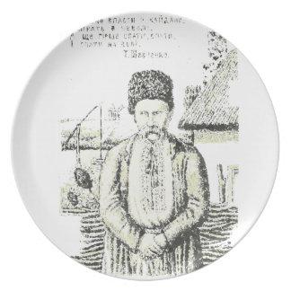Taras Hryhorovych Shevchenko Ukrainian poet Dinner Plate