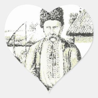 Taras Hryhorovych Shevchenko Ukrainian poet Heart Sticker