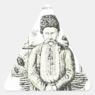 Taras Hryhorovych Shevchenko Ukrainian poet Triangle Sticker