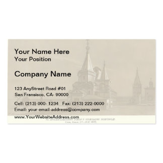 Taras Shevchenko- Archangel Cathedral in Nizhny Double-Sided Standard Business Cards (Pack Of 100)