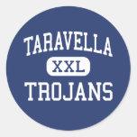 Taravella - Trojans - High - Coral Springs Florida Round Sticker