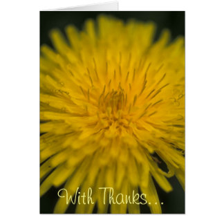 Taraxacum officinale (Dandelion) Stationery Note Card