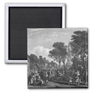 Tarbolton, Procession of St.James' Lodge, 1846 2 Inch Square Magnet