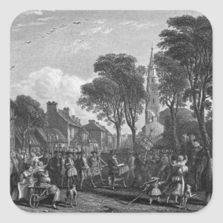 Tarbolton, Procession of St.James' Lodge, 1846 Square Sticker
