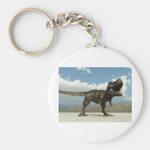 Tarbosaurus Basic Round Button Keychain