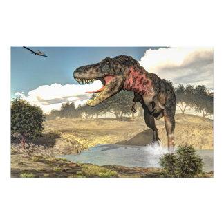Tarbosaurus dinosaur - 3D render Stationery