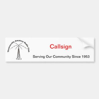 TARC & Callsign Community Service Bumper Sticker Car Bumper Sticker