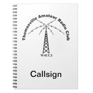 TARC Logo & Your Callsign Notebook