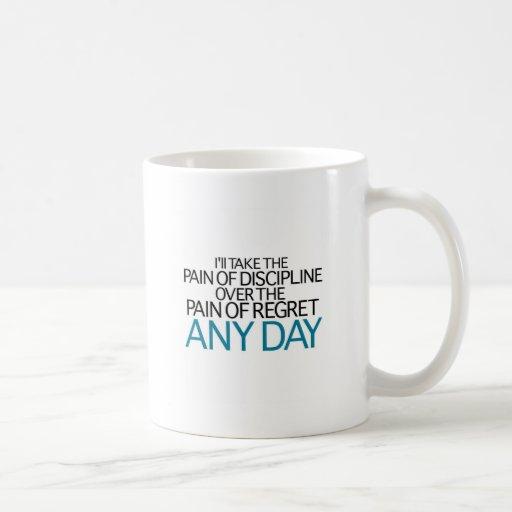 Tardaré a dolor de la disciplina cualquier día taza