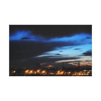 Tarde azul sobre Battersea Impresiones En Lona