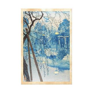 Tarde brumosa en la charca de Shinobazu, Tokio Kas Impresiones De Lienzo