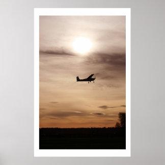 Tarde Cessna 182 Póster