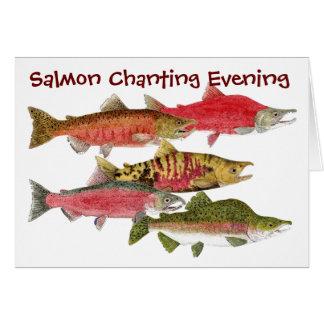 Tarde de color salmón el cantar felicitación