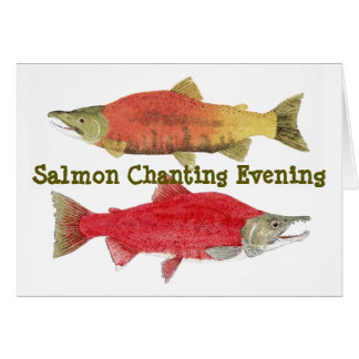 Tarde de color salmón el cantar tarjeta de felicitación