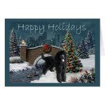 Tarde de la tarjeta de Navidad del caniche