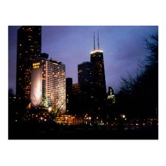 tarde de Torre Sears Tarjeta Postal