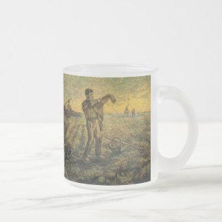 Tarde de Van Gogh Final del día arte del vintage Taza De Café