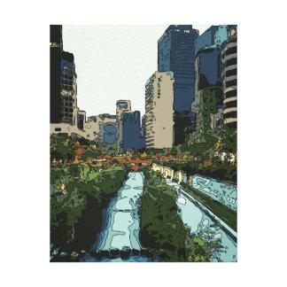 Tarde del Gran Canal en la ciudad de Hong Kong Lienzo Envuelto Para Galerías