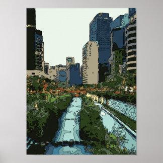 Tarde del Gran Canal en la ciudad de Hong Kong Impresiones