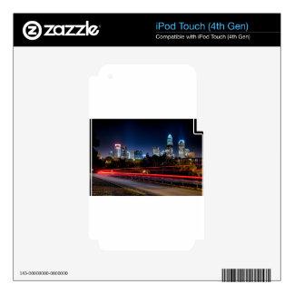 tarde del horizonte de Charlotte Carolina del iPod Touch 4G Skin