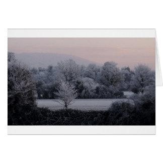 Tarde del invierno de Herefordshire Tarjeta De Felicitación