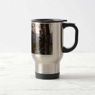 Tarde del invierno tazas de café
