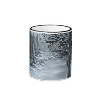 Tarde del invierno taza de dos colores
