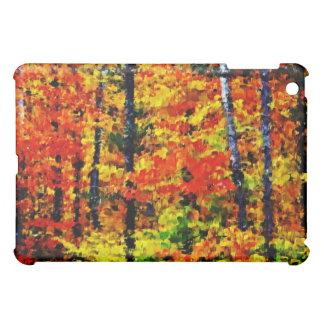 Tarde del otoño - caso del iPad del arte de la pin