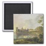 Tarde del verano (castillo) de Caernarvon c.1764-6 Imán De Nevera