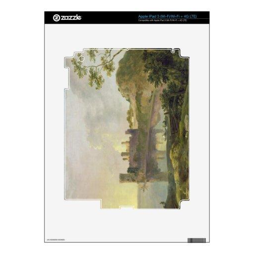 Tarde del verano (castillo) de Caernarvon c.1764-6 Pegatina Skin Para iPad 3