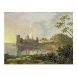 Tarde del verano (castillo) de Caernarvon Postal
