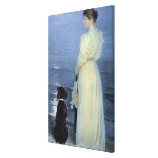 Tarde del verano en Skagen Impresión De Lienzo