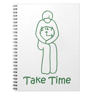 tarde el tiempo cuaderno