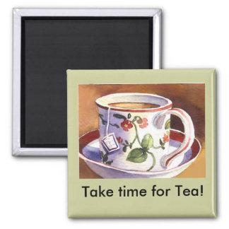 Tarde el tiempo para el imán del té