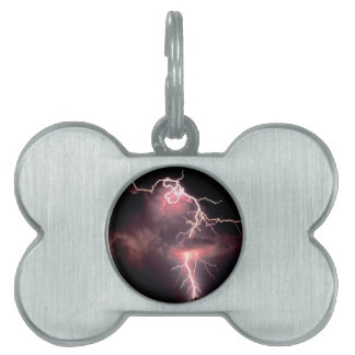 Tarde eléctrica del cielo placa de mascota