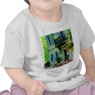 Tarde en el café francés camisetas