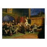 Tarde en el estudio con mis estudiantes, 1886 tarjeta de felicitación