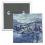 Tarde en el lago Alfalfa, 1924 Pin Cuadrado
