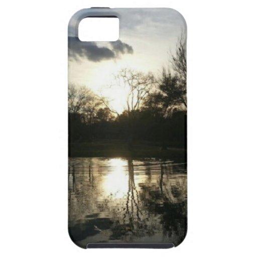 Tarde en el lago (naturaleza y paisaje) funda para iPhone SE/5/5s