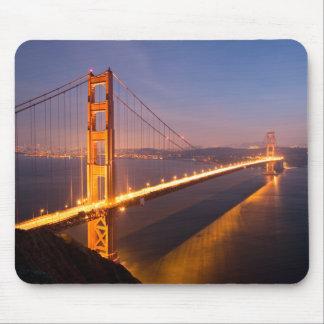 Tarde en el mousepad de puente Golden Gate Alfombrillas De Ratón
