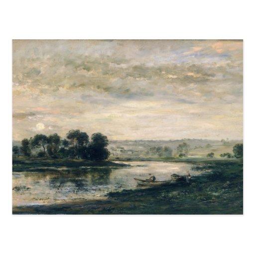 Tarde en el Oise, 1872 Tarjeta Postal
