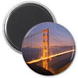 """""""Tarde en imanes de puente Golden Gate"""" Imán"""