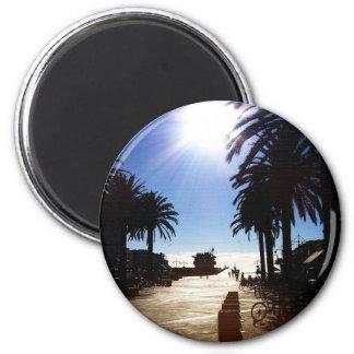 Tarde en la playa de Hermosa Imán Redondo 5 Cm