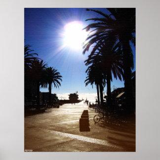 Tarde en la playa de Hermosa Póster