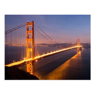 Tarde en la postal de puente Golden Gate