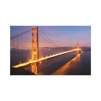 Tarde en puente Golden Gate Lienzo Envuelto Para Galerias
